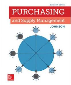 Test Bank for Purchasing and Supply Management 16th Edition Johnson