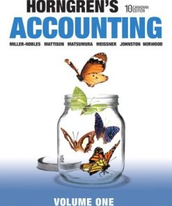Test Bank for Horngren's Accounting, Volume 1 10th Canadian Edition Miller-Nobles