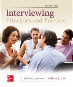Test Bank for Interviewing: Principles and Practices 15th Edition Stewart