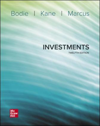 Test Bank for Investments 12th Edition Bodie
