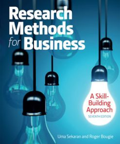 Test Bank for Research Methods For Business 7th Edition Sekaran Test Bank for Research Methods For Business: A Skill Building Approach 7th Edition Uma Sekaran, Roger Bougie ISBN: 978-1-119-26684-6, ISBN: 9781119266846 YOU SHOULD KNOW 1. We do not sell the textbook 2. We provide digital files only 3. We can provide sample before you purchase 4. We do not offer refund once the files are sent 5. You will receive this product immediately after making payment 6. You are buying: Test Bank for Research Methods For Business 7th Edition Sekaran 7. ***THIS IS NOT THE ACTUAL BOOK. YOU ARE BUYING the Test Bank in e-version of the original book*** What is a Test Bank? A test bank is a collection of test questions tailored to the contents of an individual textbook. Many instructors rely on these resources to develop their exams. Test banks may contain any or all the following types of questions: multiple choice, true/false, fill in the blank, matching, and essay/short answer.