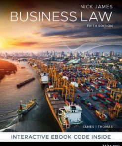 Test Bank for Business Law 5th Edition James