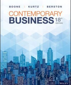 Solution Manual for Contemporary Business 18th Edition Boone