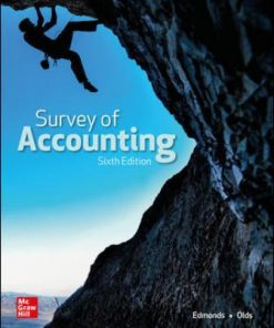 Solution Manual for Survey of Accounting 6th Edition Edmonds
