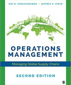 Test Bank for Operations Management Managing Global Supply Chains 2nd Edition Venkataraman