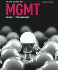Test Bank for MGMT : principles of management 3rd Canadian Ediiton Williams