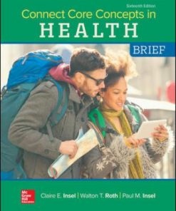 Test Bank for Connect Core Concepts in Health BRIEF 16th Edition Insel