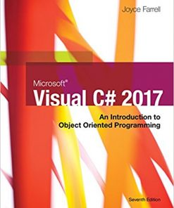 Test Bank for Microsoft Visual C#: An Introduction to Object-Oriented Programming 7th Edition