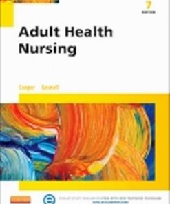 Test Bank for Adult Health Nursing 7th Edition Cooper